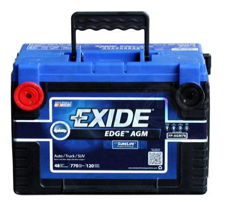 exide car battery review. Exide Edge FP-AGM78 Flat Plate AGM Sealed Automotive Battery