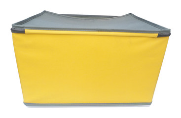 yellow storage box for keeping supplies